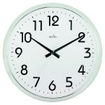 Acctim Orion Silent Sweep Wall Clock 320mm Chrome/White 21287