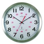Acctim Century 24 Hour Radio Controlled Clock Aluminium 74457