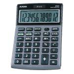 Aurora Grey/Black 12-Digit Semi-Desk Calculator DT661