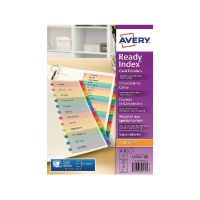Avery Readyindex Mylar Punched A-Z 02003501