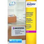 Avery Weatherproof White Parcel Label 99.1 x 139mm 4 Per Sheet (Pack of 100) L7994-25