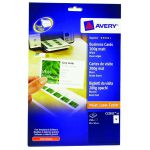 Avery Matte White Multipurpose Business Cards 85 x 54mm (Pack of 250) C32011-25