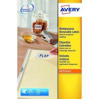 Avery Removable Labels 270 per sheet 17.8 x 10mm L4730REV-25