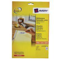 Avery Removable Labels 189 per sheet 25.4 x 10mm L4731REV-25