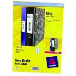 Avery Ring Binder Label 25 Sheet 100mm x 30mm L7172