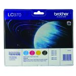 Brother LC-970 Black /Cyan/magenta/Yellow Inkjet Cartridge (Pack of 4) LC970VALBP