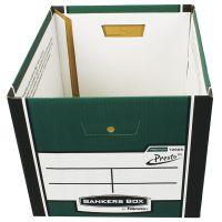 Fellowes Bankers Box Premium Presto Storage Box Green/White (Pack of 10+2) 7260801
