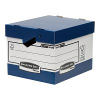 Fellowes Bankers Box Heavy Duty Blue and White Ergo Box (Pack of 10) 0038801