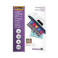 Fellowes A4 Self Adhesive Enhance Laminating Pouches 160 Micron (Pack of 100) 53022