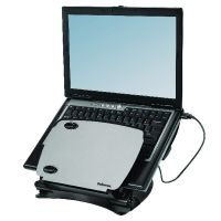 Fellowes Smart Suites Laptop Riser With 4-Port USB 2.0 Black /Clear 8020201