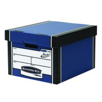 Fellowes Bankers Box Premium Presto Classic Storage Box Blue (Pack of 10+2) 7250601