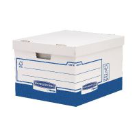 Fellowes Basics Large Heavy Duty Storage Box W380 x D430 x H287mm (Pack of 10) BB72106