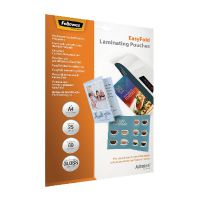 Fellowes Admire EasyFold A4 Laminating Pouches 160 Micron (Pack of 25) 5601901