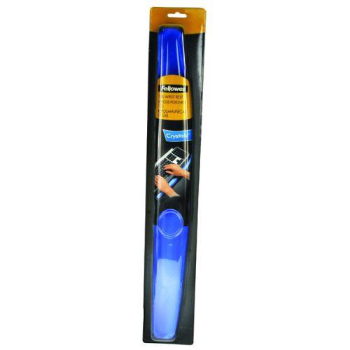 Fellowes Crystal Gel Wrist Rest Blue 9113701