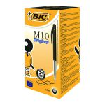 Bic M10 Clic Retractable Ballpoint Pen Medium Black (Pack of 50) 901256