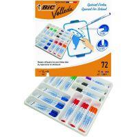 Bic Velleda 1721 Fine Marker Assorted (Pack of 72) 875790