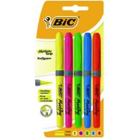BIC Highlighter Grip Assorted (Pack of 5) 894324
