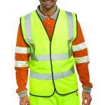 Hi-Viz Vest S/Yellow EN ISO 20471 Large WCENGL
