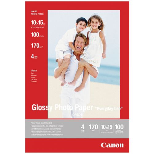 Canon Glossy Photo Paper 10x15cm 170gsm (Pack of 100) 0775B003