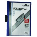 Durable 6mm Duraclip File A4 Dark Blue (Pack of 25) 2209/07