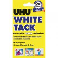 UHU White Tack 62g (Pack of 12) 42196