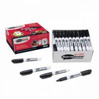 Show-me Teacher Drywipe Black Marker (Pack of 50) STM50