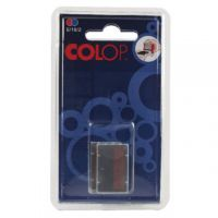 COLOP E/10/2 Replacement Ink Pad Blue/Red (Pack of 2) E/10/2