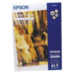 Epson Matte A4 White Heavyweight Paper 167gsm (Pack of 50) C13S041256