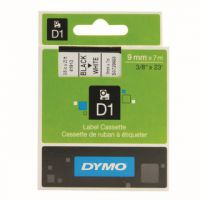 Dymo Black on White 1000/5000 D1 Standard Tape 9mmx7m S0720680