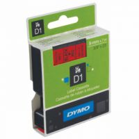 Dymo Black on Red 1000/5000 D1 Standard Tape 9mmx7m S0720720