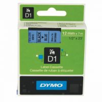 Dymo Black on Blue 4500 D1 Standard Tape 12mmx7m S0720560