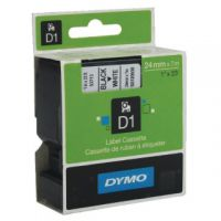 Dymo Black on White D1 Standard Tape 24mmx7m S0720930