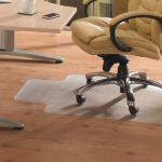Cleartex PVC Chair Mat Hard Floor Lipped 920x1210mm Clear 1299225LV