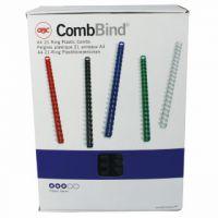 GBC Black CombBind 22mm Binding Combs (Pack of 100) 4028602U