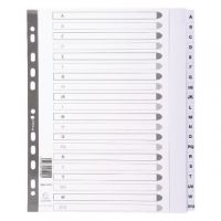 Exacompta Guildhall Mylar Index A-Z  A4 Maxi White MWDA-ZZ-EW
