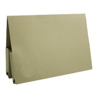Guildhall Legal Double Pocket Wallet Foolscap Green (Pack of 25) 214-GRN