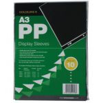 Goldline Polypropylene Display Sleeve A3 (Pack of 10) PDSA3Z