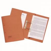 Guildhall Transfer Spiral Pocket File 315gsm Foolscap Orange (Pack of 25) 349-ORG