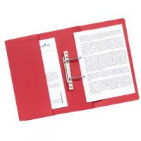 Guildhall Heavyweight Transfer Spiral Pocket File 420gsm Foolscap Red (Pack of 25) 211/6005