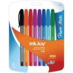 Papermate Inkjoy 100 Stick Ballpoint Pen Assorted 1927074 (Pack of 8)