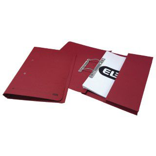Elba Stratford Spring Pocket File 320gsm Foolscap Bordeaux (Pack of 25) 100090149