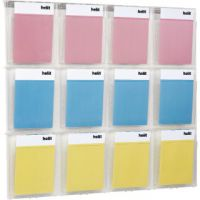 Helit Placativ Wall Display 12 x A4 Pockets Clear H6811102
