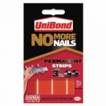 No More Nails Red Permanent Adhesive Strip (Pack of 10) 781740