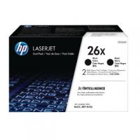HP 26X High Yield Black Laserjet Toner Cartridge Twin Pack CF226XD