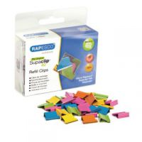Rapesco Supaclip 40 Refill Clips Multicoloured (Pack of 150) CP15040M
