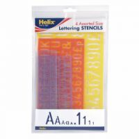 Helix Lettering Stencil Set of 4 Assorted Sizes (Pack of 5) H40891
