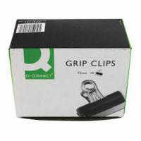 Q-Connect Grip Clip 75mm Black (Pack of 10) KF01291