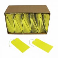 Yellow Strung Tags 120x60mm (Pack of 1000) KF01626