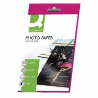 Q-Connect White 10x15cm Glossy Photo Paper 260gsm (Pack of 25) KF01906