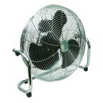 Q-Connect High Velocity Floor Standing 3-Speed Fan 18 inch Chrome